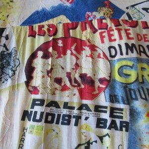 Jams World Expo Shirt Mens M Nudist Bar Colorful